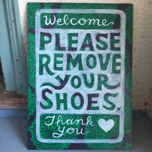 """Please Remove Your Shoes"""