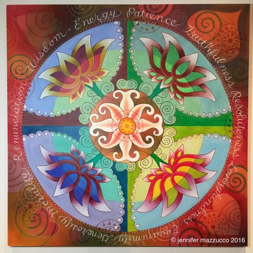 """Breathe Together Yoga Mandala"""